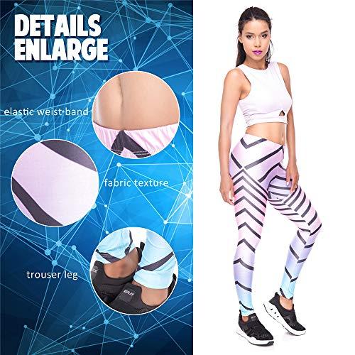 3d Pantaloni da di punti yoga stampati vestiti nove alta leggings 7 elasticizzazione donna fitness Lybtrouser qz5wxFRdq