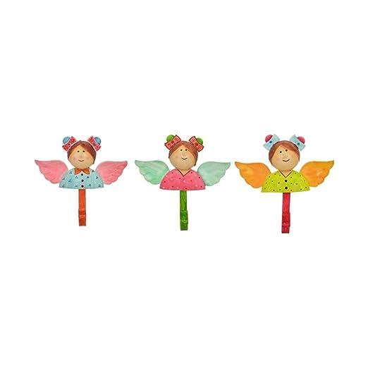 Exner Set de 3 Ganchos de Pared de tiernos ángeles Hechos de ...