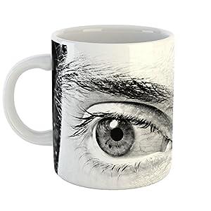 Westlake Art - Eyelash Photography - 11oz Coffee Cup Mug - Modern Picture Photography Artwork Home Office Birthday Gift - 11 Ounce (AE0B-DC0D2)