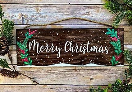 Christmas Signs.Amazon Com Yycharm Christmas Door Hanger Christmas Signs