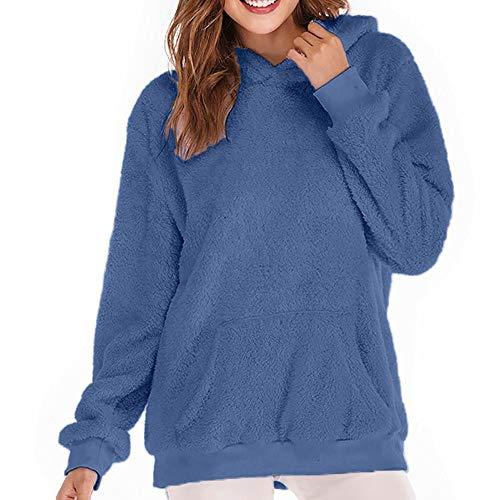 Poches Outwear Manteau Mirray foncé coton uni capuche en Bleu zippées Manteau hiver en chaudes à Ywxa1w7