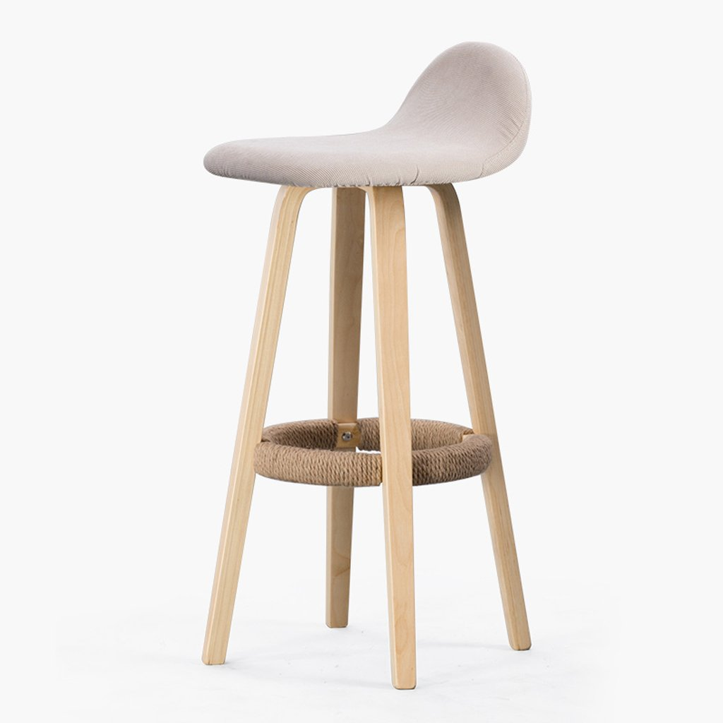 2 Ghjkl Bar Chairs Back Iron bar Stool Phone bar bar Chairs Solid Wood Front Desk Stool -by TIANTA (color    2)