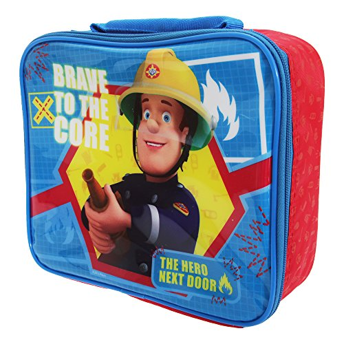 Fireman Lunch (Fireman Sam Childrens Boys Official Insulated Lunch Bag/Food Cooler (One Size) (Blue/Red))