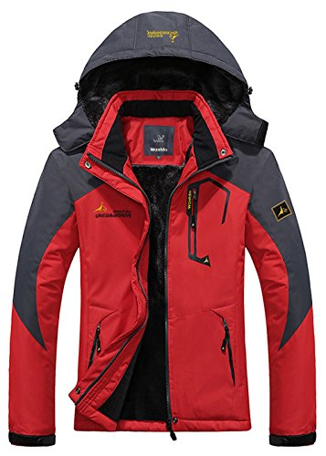 Wantdo Men's Waterproof Mountain Jacket Fleece Windproof Ski Jacket