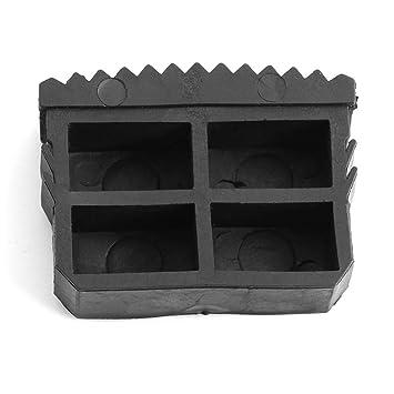 Gummi Rutschfeste Leiterf/ü/ße 2 Teile//Paar Ersatz Gummif/ü/ße Home Schritt Leiter F/ü/ße Fu/ßmatte Kissen Sohle Schwarz f/ür Aluminium Leiter