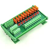 Electronics-Salon DIN Rail Mount 10 Position Power Distribution Fuse Module Board, For AC/DC 5~32V . Review