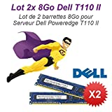 Pack Dell T110 II Server 2x 8GB 16GB RAM DDR3 DIMM 240-pin ECC 2Rx8 PC3-10600E
