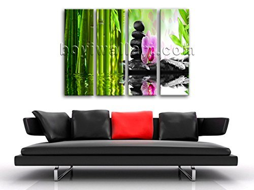 Large Relaxing Spa Feng Shui Floral Picture Modern Home Decor Canvas Print, Large floral Wall Art, Living Room, Sapphire by Bo Yi Wall Art (Image #1)