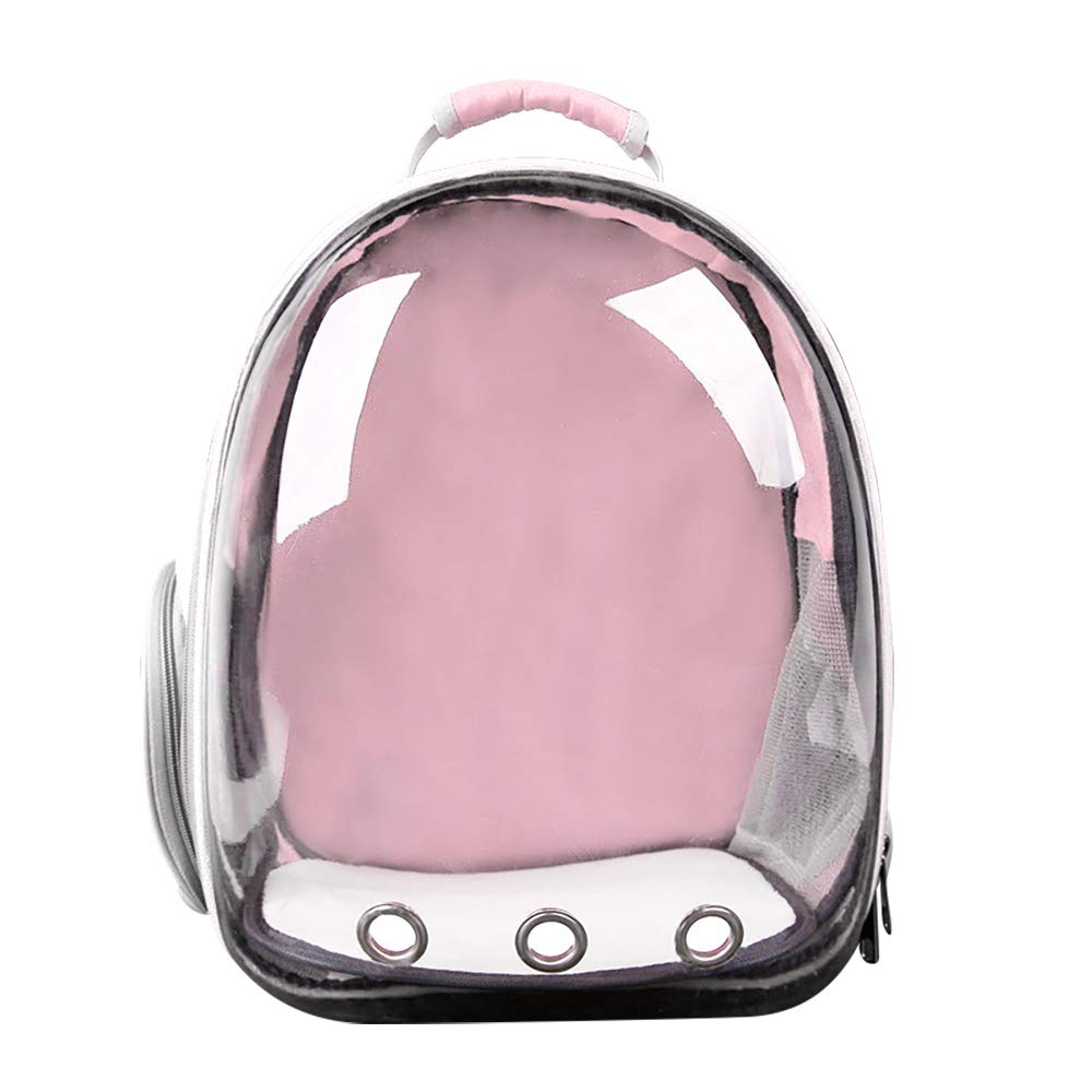 Decdeal Pet Dog Transparent Carrier Backpack Travel Bag Designed for Travel Hiking Walking Outdoor Use