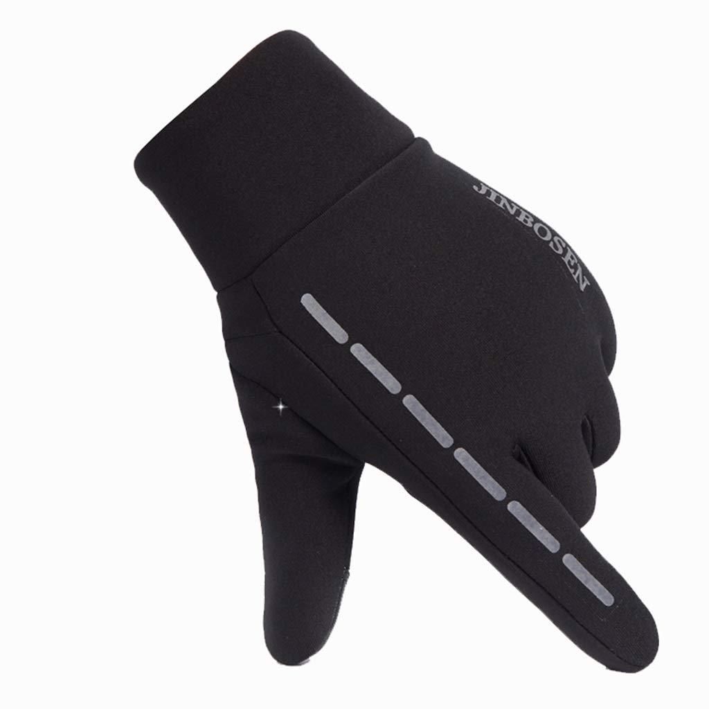 DSADDSD Outdoor-Handschuhe, Herren Winter Warm Radfahren Handschuhe, Laufen Sport Vollfinger-Touch-Handschuhe