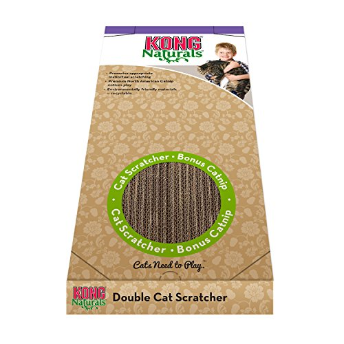 KONG - Naturals Cat Scratcher, Double - Reversible Echo Friendly Material, Premium North American ()