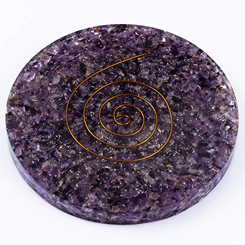 - Amethyst Healing Crystals Orgone Handmade Coasters for Drinks Gently Cleanses the Aura, Relieves Psychological Pain or Stress