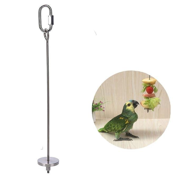 2 opinioni per Asta per uccelli, spiedino in acciaio INOX per frutta e verdura, per gabbie di