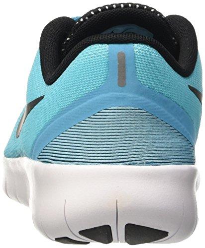 Nike Free Rn (Gs), Zapatillas de Gimnasia Niñas Azul (Azul (Gamma Blue / Black-White))