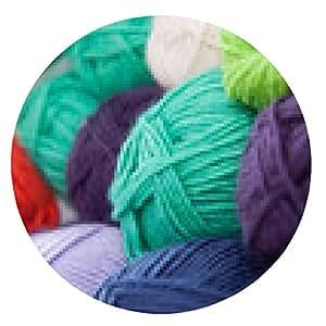 alfombrilla de ratón para tejer lana de colores - ronda - 20cm