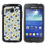 LASTONE PHONE CASE / Slim Protector Hard Shell Cover Case for Samsung Galaxy Ace 3 GT-S7270 GT-S7275 GT-S7272 / Cool Bee Flowers Pattern Yellow