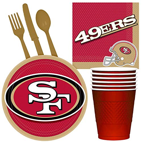 Costume SuperCenter NFL San Francisco 49ers Tailgate Party Pack (for 16 -