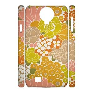 Retro Floral Flower 3D-Printed ZLB536926 Customized 3D Cover Case for SamSung Galaxy S4 I9500