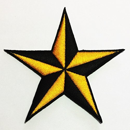 Nautical Star Tattoo Naval symbol DIY Applique Embroidered Sew Iron on Patch p#187