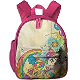 Kawaii Functional Design For Kids School Backpack Children Bookbag Perfect For Transporting For Traveling In 4 Season Pink