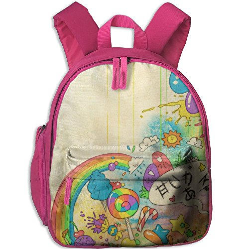 Kawaii Functional Design For Kids School Backpack Children Bookbag Perfect For Transporting For Traveling In 4 Season Pink by PENTA ANGEL