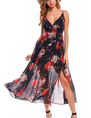 Meaneor-Chiffon-Maxi-Dress-Women-Vintage-V-Neck-Floral-Print-Long-Bohemian-Beach-Dress