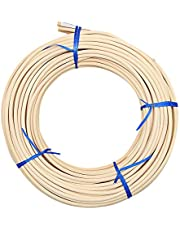 KEILEOHO #8 Reed Spline 65 Feet x 3/16 Inches Cane Webbing for Weaving, Cane Webbing for Chair Repair, Strong Permeable Cane Webbing Roll for Winding, Modeling, Decoration, Weaving, Aromatherapy