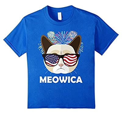 Meowica Shirt | Funny Cat Shirts | Fourth Of July Shirt 4th