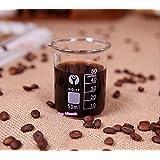 Ainest Coffee Measuring Cup Glass Beaker Espresso Graduated Borosilicate Laboratory Lab 2 pc,100ml Measuring Cup Beaker