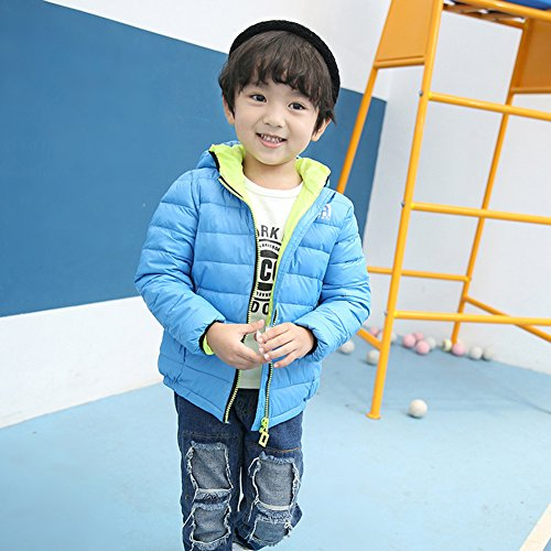 Down Blue Chic Winter Anoraks Lightweight Hooded Lemonkids;® Jacket Children Coat Blue xEvCw0vq6