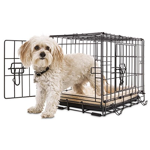 Petco Premium 2-Door Dog Crate, 42' L x 28' W x 30' H, X-Large, Black