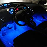 SiriusLED-Super-Bright-1-W-LED-Bulbs-with-360-Degree-Projection-for-Car-Interior-Lights-Gauge-Instrument-Panel-Dome-Map-Side-Marker-Door-Courtesy-License-Plate-T10-168-192-194-2825-W5W-Blue