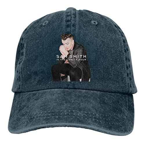 (YBHAT Sam Smith in The Lonely Hour Men & Women Pigment Dyed Cap Adjustable Navy)