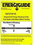 Pentair 460733 MasterTemp High Performance Eco-Friendly Pool Heater, Propane Gas, 250,000 BTU