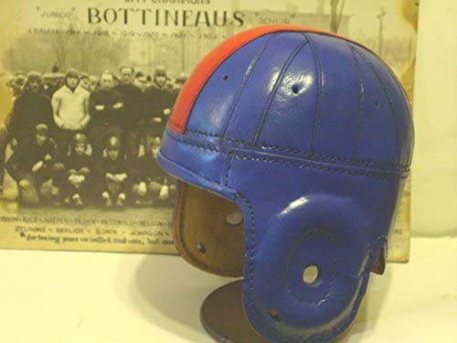 Ole Miss//Kansas Leather Football Helmet 1940s