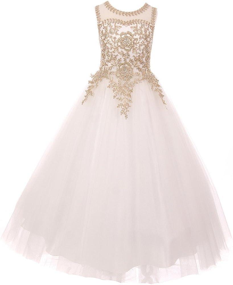 Cinderella Couture Big Girls Off-White