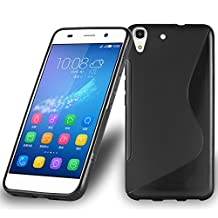 Cadorabo – Silicone Case S-LINE SLIM-FLEX for Huawei Y6 – Etui Cover Protection Bumper Skin in OXIDE-BLACK