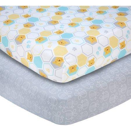 Disney Pooh Together Forever Set of 2 Crib Sheets - Ella Crib Bedding Set