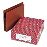 Smead - Tuff Pocket 3 1/2'' Expansion File Pockets, Straight Tab, Letter, Redrope, 10/Box - Pack of 5