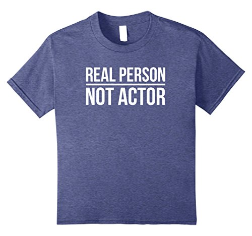 Witty Halloween Costumes (Kids Real Person Not Actor Funny Halloween Costume T Shirt 8 Heather Blue)