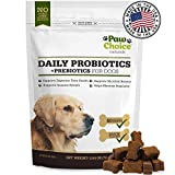 Image of Probiotics for Dogs with Prebiotics - Daily Chews for Digestion, Regularity, Diarrhea Relief, Plus Supports Immune System and Health - Natural Supplement and Treat Made in USA