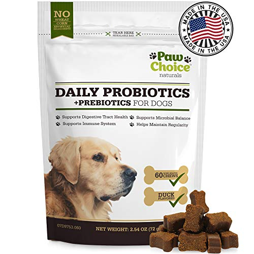 Cheapest Probiotics for Dogs with Prebiotics - Daily Chews for Digestion, Regularity, Diarrhea Relief, Plus Supports Immune System and Health - Natural Supplement and Treat Made in USA Check this out.