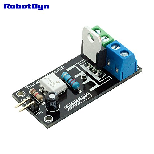 Vac Relay (RobotDyn - Thyristor 1 channel AC Switch (Solid State Relay), 3.3V/5V logic, AC 110V/220V/5A (peak 10A))
