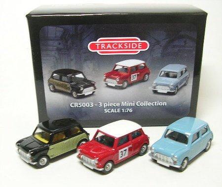 Corgi - CR5003 - 3 piÚces Mini Collection - Véronique bleu, Radford Wicker Mini, Mini Rallye Monte-Carlo