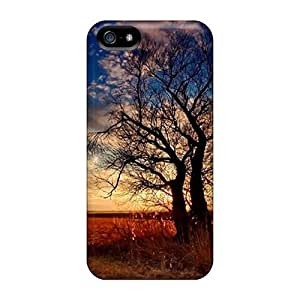 linJUN FENG5/5s Scratch-proof Protection Case Cover For Iphone/ Hot Silhouette Tree Phone Case
