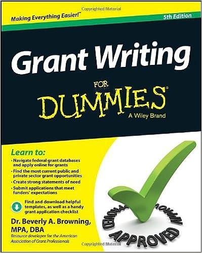 Bücher in das iPad herunterladen 2 Grant Writing For Dummies, 5th Edition 1118834666 by Beverly A. Browning PDF