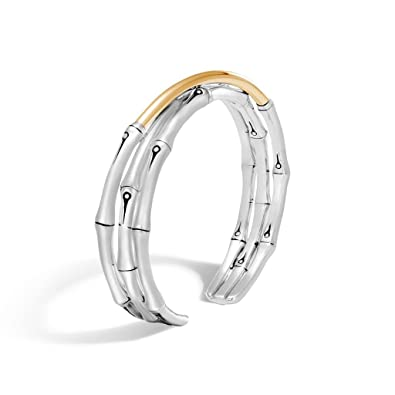 John Hardy Bamboo 18K Gold & Silver Small Flex Cuff Bracelet gaMT0z
