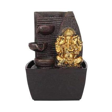 Ivy HomeStop Ganesha Fountain (Gold, Free Size)