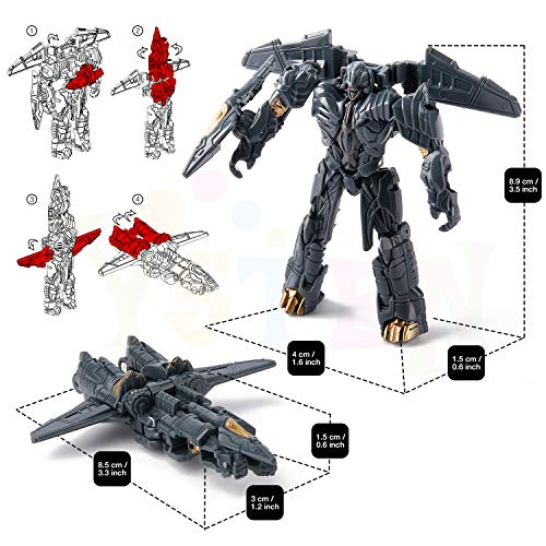 8 Pcs Car Robot Toys, 3.5 inch 2-in-1 Mini Action Figures, Birthday Gifts for 5,6,7,8,9,10,11,12 Year Old Boy.