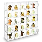 glass figurine display case - Ikee Design Mountable 25 Compartments Display Case Cabinet Stand